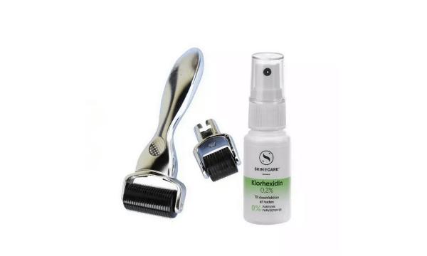 Dermaroller - 2in1 Ansigt + Krop + Dermarens - Silver Dermaroller - Titaniumsnåle